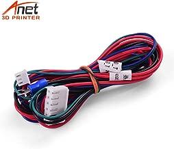 Aibecy Anet 18AWG Mejora Cable de cama caliente Línea de cama caliente Cable de cama caliente 90cm /35,4 pulgadas para proveedores de actualización de impresora 3D Anet A8/A6/A2/A3/E12/E10