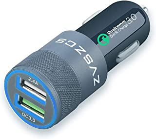 ZVSZCS Smart Fast Car Charger Adapter, Quick Charge,2.4A Port For IPhone11/XS/Max/XS/XR/X/8/7/Plus/7/6S/6,Ipadpro/Air/Mini...