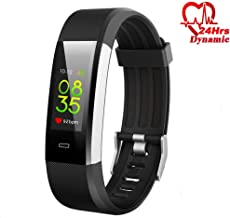 Hyphenx Fitness Tracker Watch Waterproof Black Health Heart Rate Monitor Color Screen Smartband Activity Wristband for Women Men with Step Counter Calorie Burn Pedometer Sleep Monitor