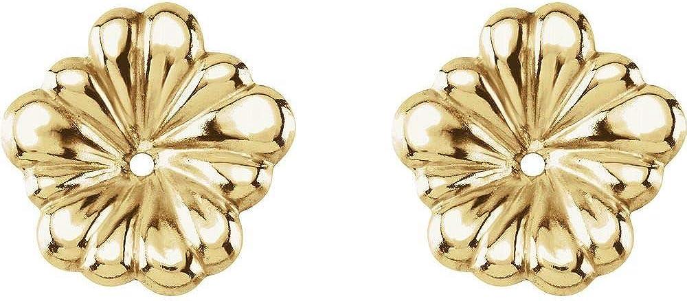 Floral-Inspired Flower Earring Jackets (Width = 11mm)