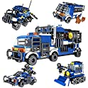 Snaen 4 in 1 Biochemical Police Building Blocks Car Set