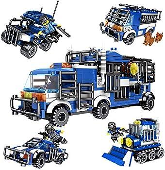 Snaen 4 in 1 Biochemical Police Building Blocks Car Set