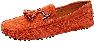 Jamron Hommes Élégant Frange Suede Mocassins Confort Loafers Plat Chaussures de Conduite