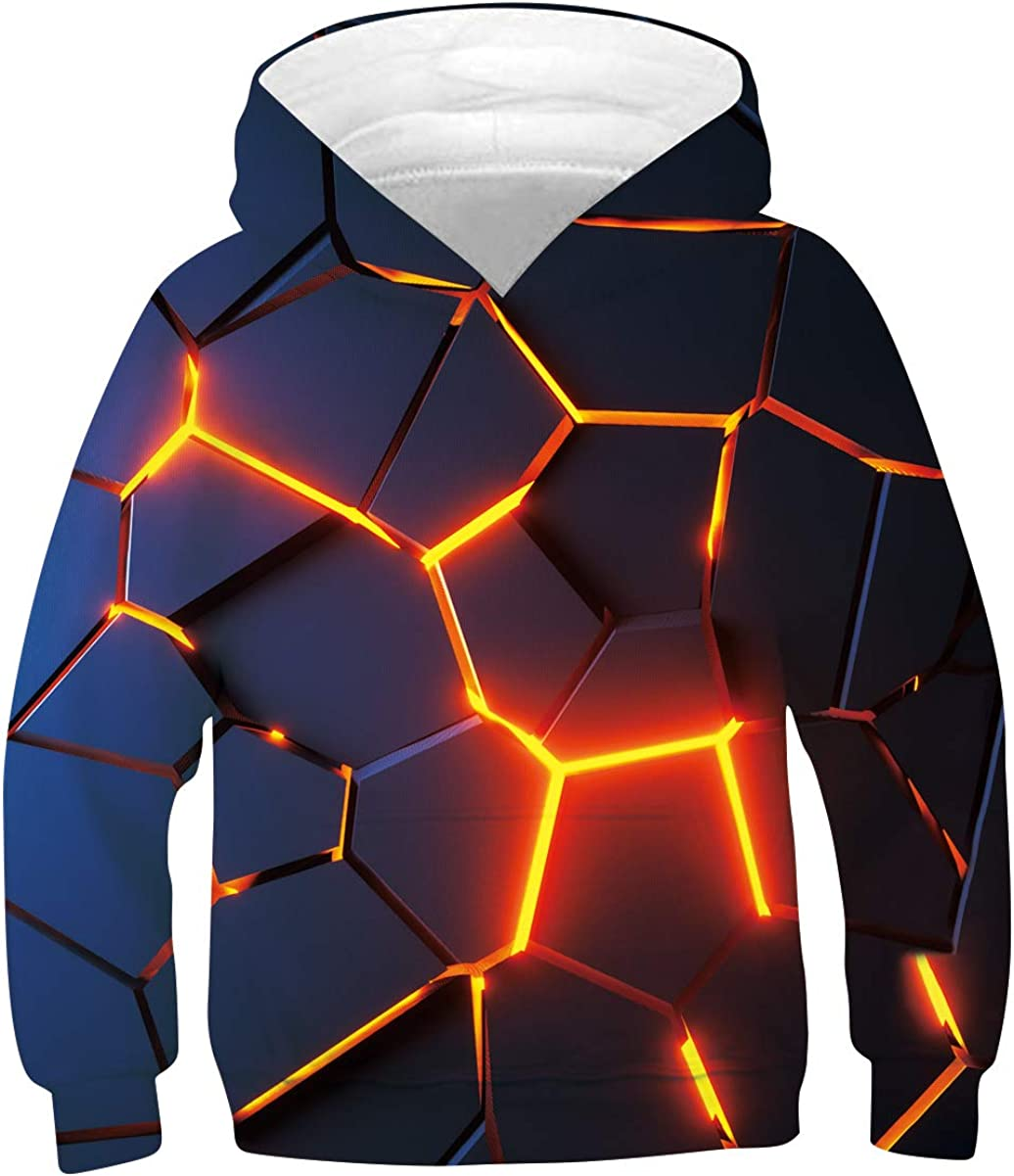 UNICOMIDEA Boys Girls 3D Print Sweat Hoodie Pullover Kids Hooded Max 59% OFF Sales results No. 1