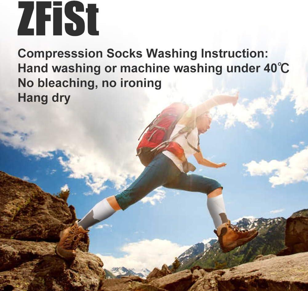 ZFiSt Sport Medical Compression Socks Men Women,1-3Pair 20-30mmhg Run Compression Socks for Nurse Edema Diabetic Travel