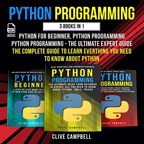 Python Programming: 3 Books in 1 cover art