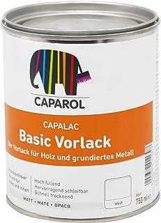 Caparol Capalack Vorlack Basic weiss 0,75L Grundierung Voranstrich für Holz und Metall innen und aussen