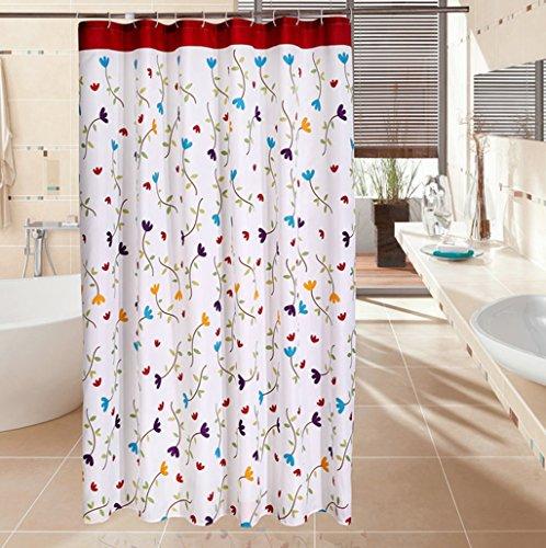 AI XIN SHOP Badezimmer- Gedruckt Polyester Duschvorhang Wasserdicht & Schimmel Bad Trennwand Vorhang (größe : 2.2 * 2m(w*h))