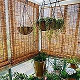 CMJM Bambusrollo, Bambus Rollo Jalousine Schilf Vorhang für Deck Pergola Pavillon Sonnenschutz/Atmungsaktiv Mehrere Größen
