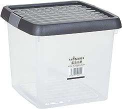 Wham 19452 Storage Box with Clip Lid, Clear/Graphite - 24.5H X 24.5W X 20.50D cm