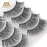 4Pair Luxus 3D falsche Wimpern flauschigen Streifen Wimpern lange natürliche Party (4 Paar,F)