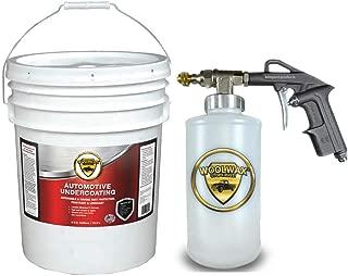woolwax Lanolin Vehicle undercoating kit 5 Gallon Pail Straw(Clear) w/PRO Gun