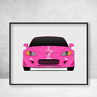 Honda S2000 AP1 Veilside Millenium driven by Suki (Devon Aoki) in 2 Fast 2 Furious Poster Print Wall Art Decor Handmade