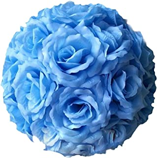 Mwfus Fabric Artificial Flowers Silk Rose Pomander Wedding Party Home Decoration Kissing Ball Trendy Color Simulation Flower