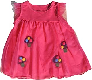 Baby and Toddler Fashionable Dress Embellished With Pom Poms Size 12 Month To 3T