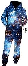 Morbuy Onesie Hoodie, voor volwassenen, 3D-print, jumpsuit, stijlvol, bedrukt met één rits, playsuit met capuchon, herfst,...