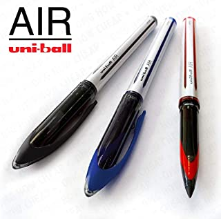 Uni-Ball AIR - 0.7mm Medium Rollerball - 3 Pack - Black, Blue, and Red - UBA-188-L
