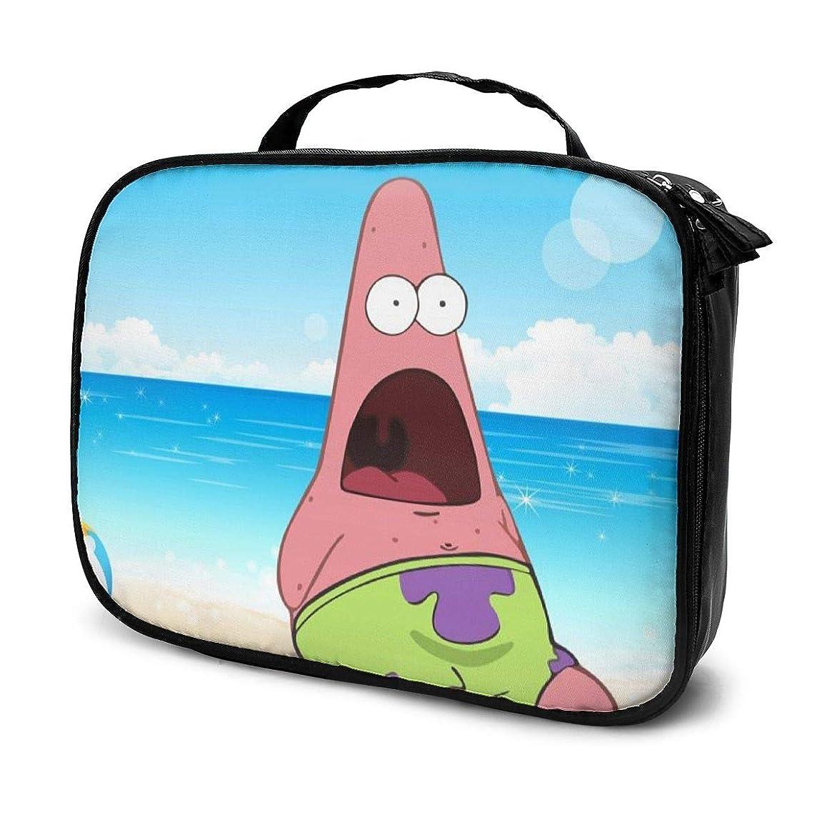 メジャー批判するナプキンDaituパトリックスター夏時間 化粧品袋の女性旅行バッグ収納大容量防水アクセサリー旅行