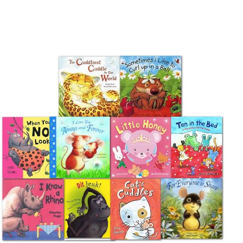 Wom Bed time Stories Collection 10 Books Set,(Sometime like to cut up in a Ball,I love you Always and Forever,When you're Not Looking,I know a Rhino,The Cuddliest Cuddle in the World,Little Honey,For Everyone to Share,Cat's cuddlesten in the)