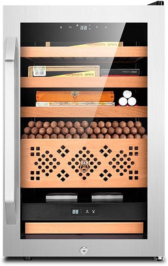 BOXIAO HUMIDORES Gabinete electrónico de cigarros, Temperatura Constante y Humedad Cedro de Madera Silencio y Humedad refrigerador Ajustable CK-68C Gabinete de Vino refrigerado Hogar (Color : G)