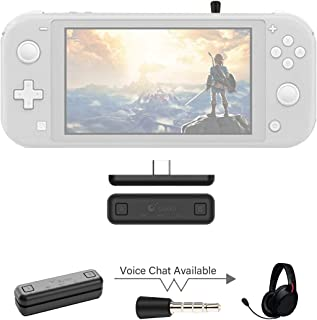 Gulikit Bluetooth Adapter Compatible for Nintendo Switch & Lite, PS4/PC, Support in-Game Voice Chat w/APTX Low Latency Wir...