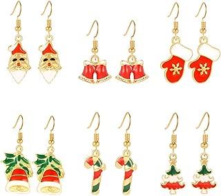 Afazfa Christmas Earrings - Earrings Set - Six Different Delicate Earrings Gifts