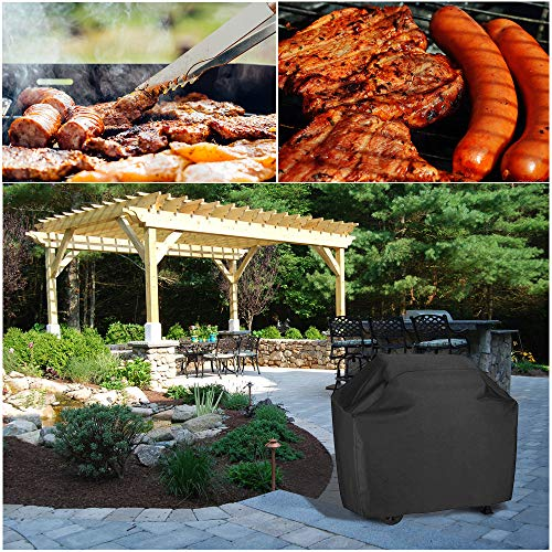 I ENJOY+ Barbecue Cover, BBQ Cover Double Layers, Oxford Fabric Barbecue Gas Grill Cover Rip-Proof,Dust-proof&Anti-UV…