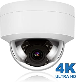 Anpviz 4K 8MP POE IP Security Dome Camera with Microphone, Audio Indoor Outdoor, Wide Angle 2.8mm Lens, 98ft, IP66 Weatherproof Onvif Compliant, White