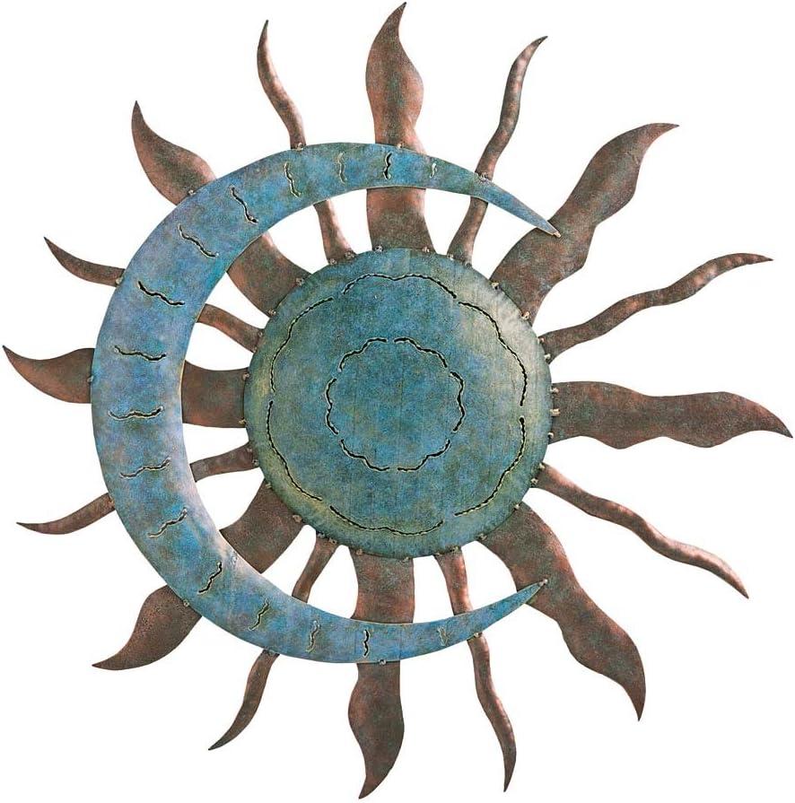 Plow Hearth Celestial Sun and Limited price Moon Art Painte Wall Sculpture Superlatite -