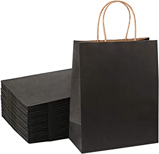 Sdootjewelry Black Gift Bags, Kraft Paper Gift Bags with Cotton Handle, 50 Pcs Heavy Duty Matte Tote Paper Bags, Shopping ...