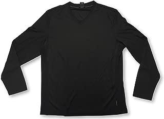 Calvin Klein V-Neck Long Sleeve Black Adult Men's Shirt