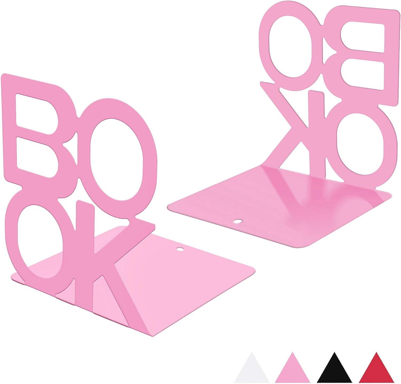 Yagote 1 Pair Desktop Bookends Metal In stock Ends Book Soldering Bo Letter Pattern