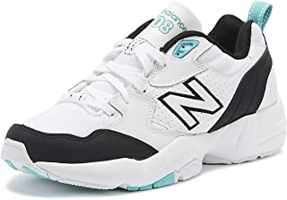 New Balance 708 Womens White/Black/Aqua Trainers