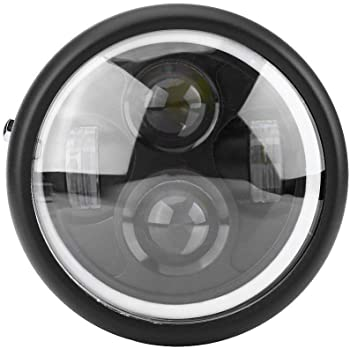 plata Haz alto//bajo KIMISS 5.75 40W Faro LED impermeable para motocicleta para Harley Davidson