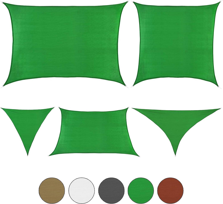 BB Sport Sonnensegel 5m x 8m Smaragd Sonnenschutz Windschutz Schattenspender Sonnentuch