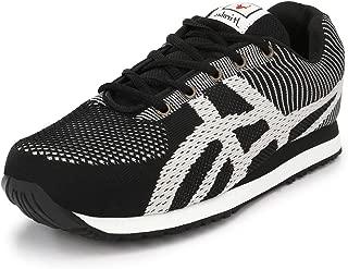 Hirolas Black Lace-Up Sports Shoes