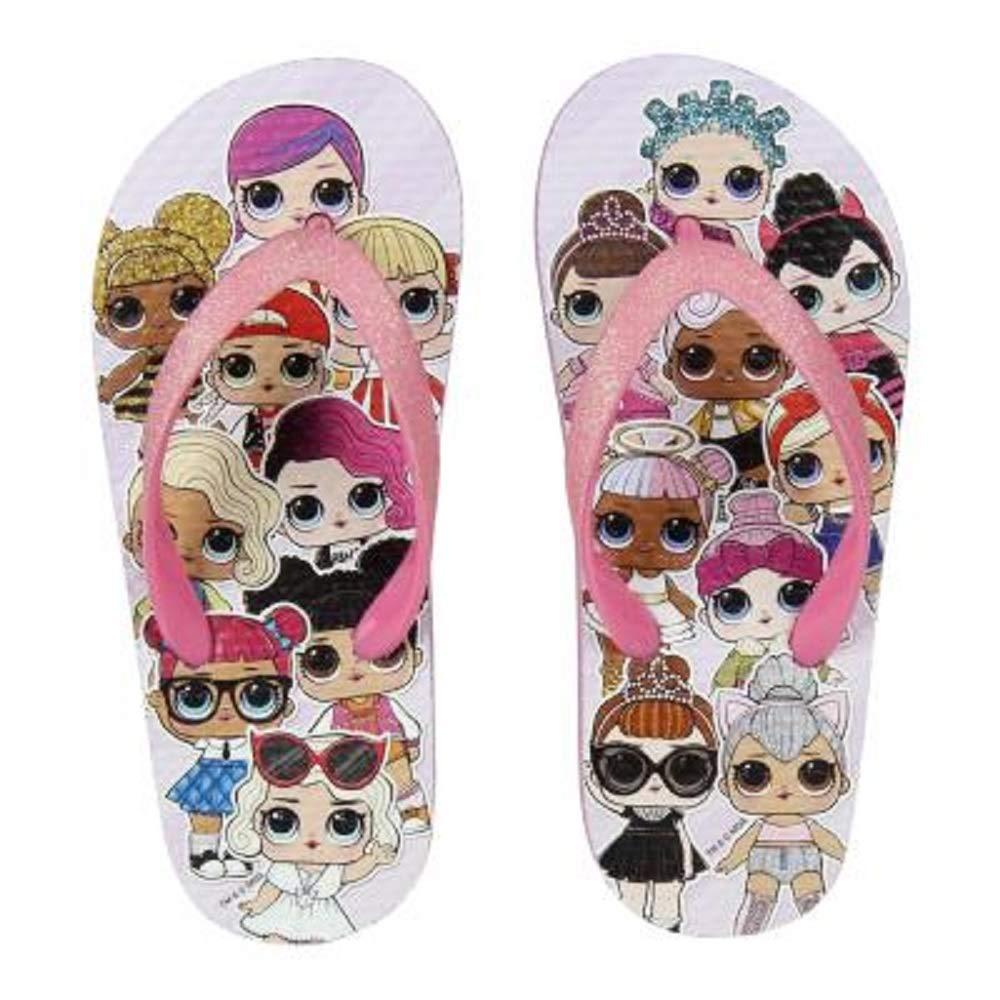 L.O.L. Surprise ! Chaussures Fille avec Poupées Lol Diva, Fancy, Rocker | Sandales Fille pour L'été, Plage, Piscine, Vacances | Chaussures Enfants