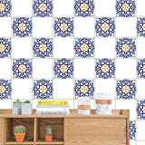 Moent Decoración para el hogar 6 Piezas geométricas Autoadhesivas Azulejos...