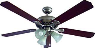 Bastilipo Ventilador de Techo para 3 Tuplipas E27, 60 W, Gris Satinado, 132 x 47 cm