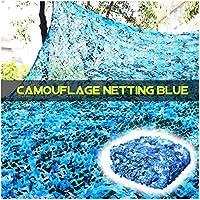 HTTWZW ガーデンパティオ温室サンシェードデコレーション狩猟ブラインド撮影キャンプの写真のために耐久性のある迷彩ネッティングブルー、迷彩ネット2x3m 3x4m 5x6m 8x10m陸軍メッシュネット W8Z8W8 (サイズ : 2x10m)