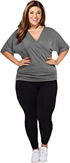 Opaque Graduated Compression Extra Firm Support (20-30mmHg) Plus Size Footless Microfiber Leggings Tights with Control Top. (XXL (14W-16W))
