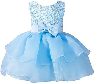 LaoZan Dziewczęca sukienka księżniczki, bez rękawów, tiulowa, odświętna sukienka tutu