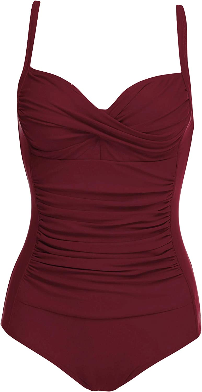 Ekouaer Womens One Piece Max 44% OFF Swimsuit Elegant Vintage u Pin Inspired Over item handling