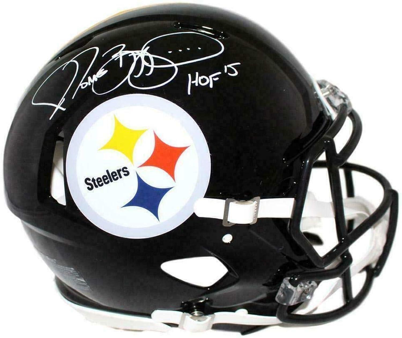 Signed Jerome Bettis Helmet  Authentic Speed BAS 23928  Beckett Authentication  Autographed NFL Helmets