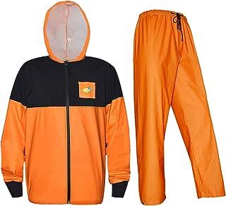 Rain Suits for Men Women Fishing Softshell Jacket with Waterproof Pants Neoprene Cuffs