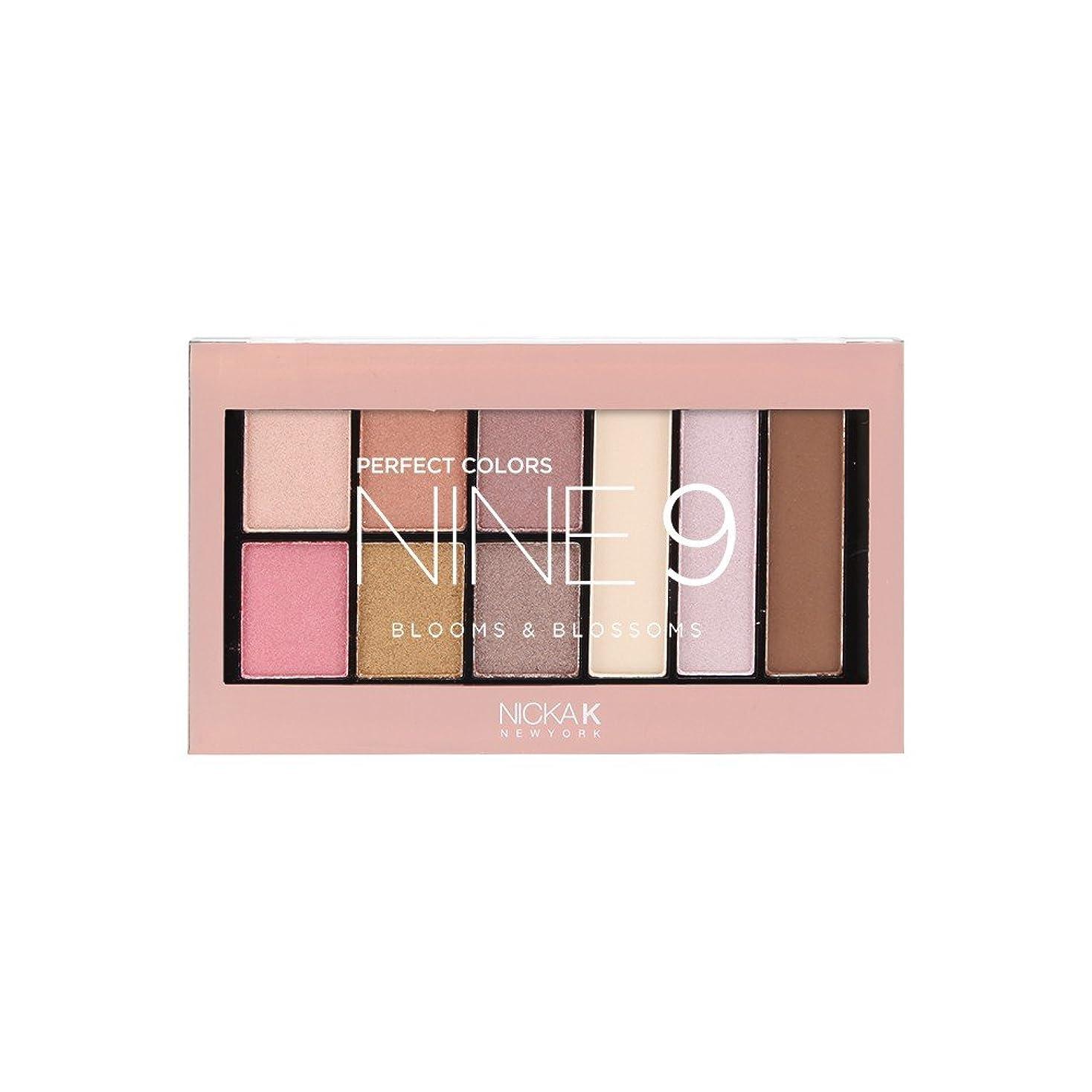 荒廃する値下げ考えた(3 Pack) NICKA K Perfect 9 Blooms & Blossoms Palette (並行輸入品)
