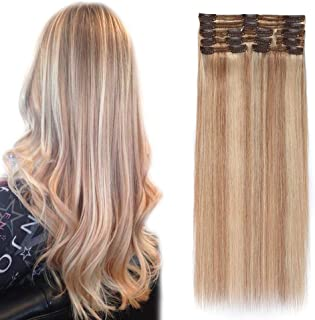 Double Weft Clip in Hair Extensions 100% Remy Human Hair 10''-22'' Grade 7A Quality Full Head Thick Long Soft Silky Straight 8pcs 18clips(14