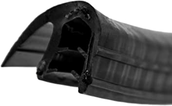 0,1 m Klemmbereich 1-4mm einfache Montage selbstklemmend ohne Kleber DS13 Dichtungsprofil von SMI-Kantenschutzprofi mit seitlicher Dichtung aus EPDM Moosgummi Klemmprofil aus weich PVC