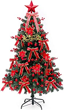 CHHLDLO Pre-Lit Premium Artificial Spruce Christmas Tree LED Lights Fake Artificial Illuminated Large Xmas Trees Hotel Shopping Mall Shop Decor Tree 1.8 Meter (Size : 1.8 Meter)