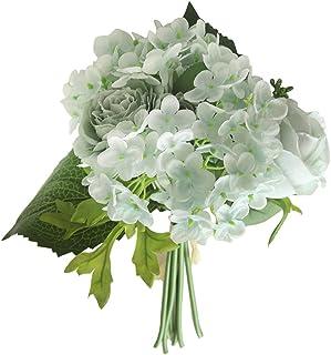 Farantasy造花ファッション美しい現実的な人工絹偽の花牡丹の花の結婚式の花束ブライダルアジサイの装飾